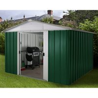 Yardmaster Emerald No Floor Metal Apex Shed 10 x 8ft