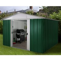 Yardmaster Emerald Metal Apex Shed 10 x 10ft with Floor Support Frame