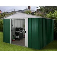 Yardmaster Emerald Metal Apex Shed 10 x 13ft with Floor Support Frame