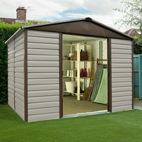 Yardmaster Shiplap Metal Shed 10 x 6ft with Floor Support Frame
