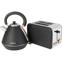 Salter COMBO3646 1.7L 3KW Pyramid Kettle and 850W 2Slice Toaster  Rose Gold