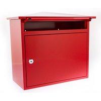 Burg-Wachter Mersey Galvanised Steel Post Box - Red