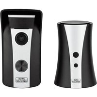 Burg-Wachter DG8500 WiFi Video Doorbell with Wireless Chime - Black & Silver