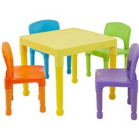 Liberty House Toys Childrens Multi-coloured Plastic Table and Chairs Set