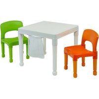 Liberty House Toys Multi-purpose White 2-in-1 Activity Table and Chair Set
