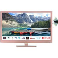 Sharp 1T-C24BE0KR1F 24 Inch HD Ready LED Smart Freeview Play TV with DVD - Rose Gold