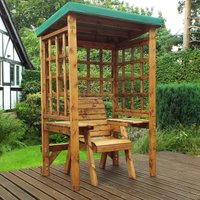 Charles Taylor Wentworth Single Seat Arbour with Green Roof Cover
