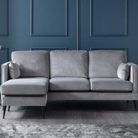 Anton Corner Chaise Sofa Malta Grey