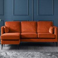 Anton Corner Chaise Sofa Malta Apricot