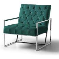 Milan Chair Velvet Jasper Stainless Steel Legs