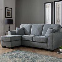 Zara Corner Chaise Sofa Dot Charcoal