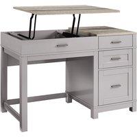 Solstice Janus Lift Top Desk - Grey/Weathered Oak