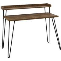 Solstice Albiorix Retro Desk with Riser - Walnut