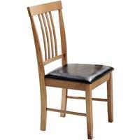 Heartlands Furniture 2 x Massa Oak Dining Chairs