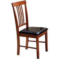 Heartlands Furniture 2 x Massa Mahogany Dining Chairs