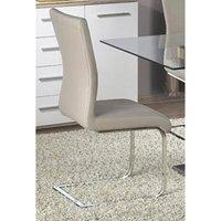 Heartlands Furniture 2 x Simone PU Chairs - Chrome/Grey
