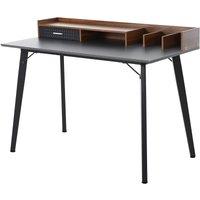 Solstice Demopolis Desk with Organiser Compartments - Brown/Black