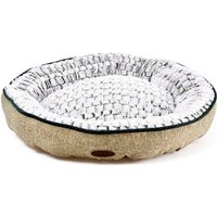 Charles Bentley Small Linen Soft Pet Bed - Taupe