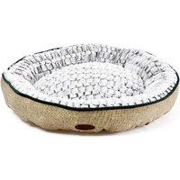 Charles Bentley Medium Linen Soft Pet Bed - Taupe