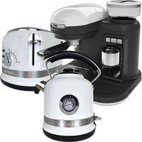 Ariette ARPK35 Moderna 1.7L Kettle, 2-Slice Toaster, and Espresso Coffee Maker - White