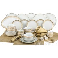 The Waterside 50 Piece Christmas in a Box Dinner Set - Gold Sparkle