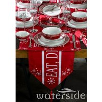 The Waterside 50 Piece Christmas in a Box Dinner - Red Festive Script