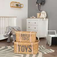 Child Home Set of 2 Rattan Basket Toy Storage