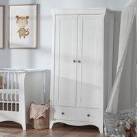 Cuddleco Clara 2 Door Double Wardrobe White