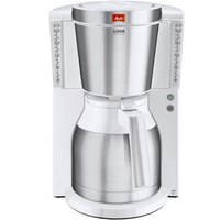Melitta Look Therm Delux Filter Coffee Machine - Chrome and White