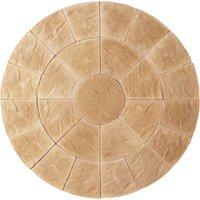 Kelkay Abbey Circle Paving Kit 2.4m - York Gold