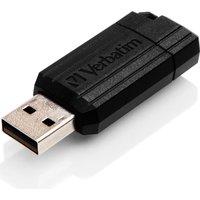 Verbatim PinStripe USB 2.0 Drive 64GB  Black