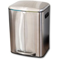Addis Twin Compartment 40L Bin - Stainless Steel