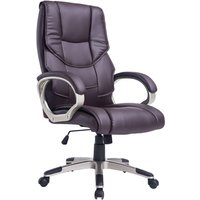 Solstice Hetz PU Leather Executive Office Chair - Brown