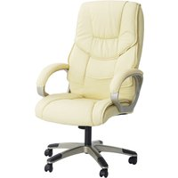 Solstice Hetz PU Leather Executive Office Chair - Cream
