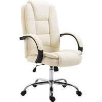 Zennor Tansy PU Leather Office Chair - Beige