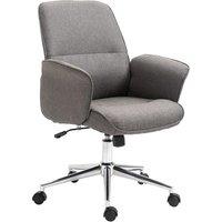 Solstice Tatsuta Linen Office Chair - Light Grey