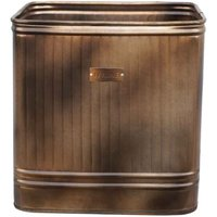 Ivyline Outdoor Hampton Square Metal Planter 35cm - Copper