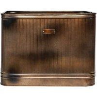 Ivyline Outdoor Hampton Rectangular Metal Planter 38cm - Copper