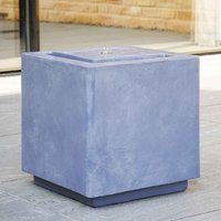 Ivyline Outdoor Elite LED Cube Water Feature - Cement