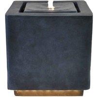 Ivyline Outdoor Elite LED Cube Water Feature - Granite