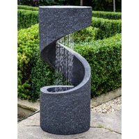 Ivyline Outdoor Spiral Water Feature - Granite