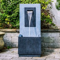 Ivyline Outdoor Contemporary Water Feature - Cement