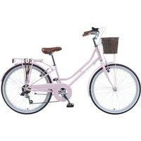 """Viking Belgravia Girls Traditional Heritage 24"""" Wheel 6 Speed Bike - Pink"""