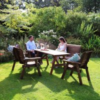 Zest4Leisure Charlotte 6 Seat Garden Dining Set