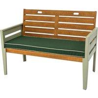 Florenity Verdi 2 Seat Bench - Natural/Green