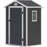 Charles Bentley 4.4 x 3.4ft Plastic Storage Shed