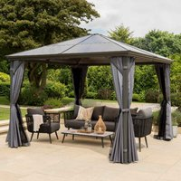 Garden Must Haves Runcton 3x3m Polycarbonate Gazebo - Anthracite