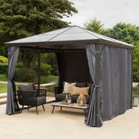 Garden Must Haves Runcton 3x3.6m Polycarbonate Gazebo - Anthracite