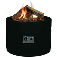 Happy Cocooning Round Cocoon Fire Pit - Black