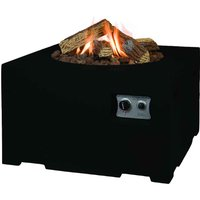 Happy Cocooning Small Square Cocoon Fire Pit - Black